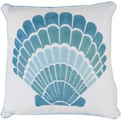 Enchante Shell Embroidered Decorative Pillow