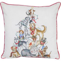 Arlee Dog Christmas Tree Decorative Pillow