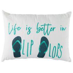 Arlee Life Is Better In Flip Flops Decorative Pillow