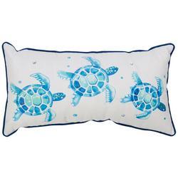 Watercolor Sea Turtle Trio Decorative Pillow