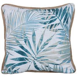 Watercolor Palm Bay Leaf Decorative Pillow