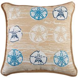 Sand Dollar Row Decorative Pillow