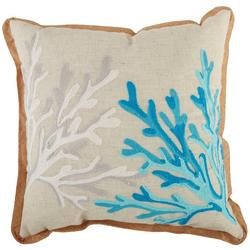 Coral Reef Embroidered Decorative Pillow