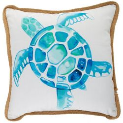 Arlee Watercolor Sea Turtle Decorative Pillow
