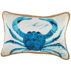 Arlee Watercolor Crab Sequin Decorative Pillow