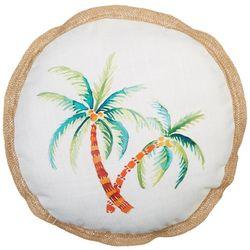 Painted Palm Decorative Pillow