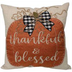 Arlee Thankful & Blessed Pumpkin Decorative Pillow