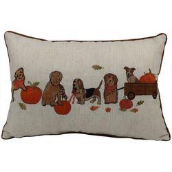 Arlee Pumpkin Dogs Decorative Pillow