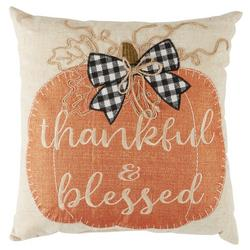 Thankful & Blessed Throw Pillow