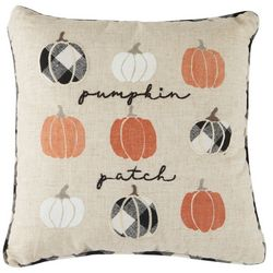 Arlee Pumpkin Patch Embroidered Throw Pillow