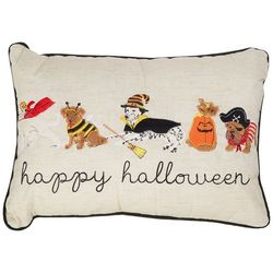 Arlee Happy Halloween Costume Dogs Decorative Pillow