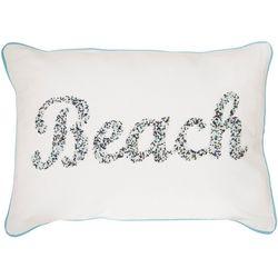 Satvik Beach Beaded Decorative Pillow