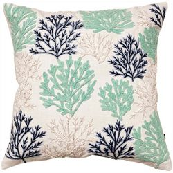 Satvik Coral Garden Embroidered Decorative Pillow