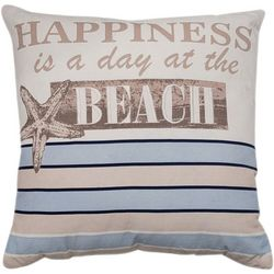 Cosmic Happiness Is A Day At The Beach Decorative Pillow