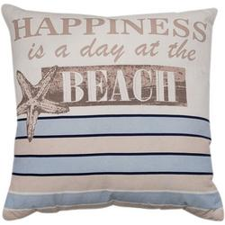 Happiness Is A Day At The Beach Decorative Pillow