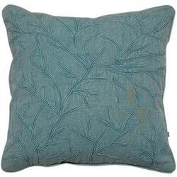 Coral Embroidered Decorative Pillow