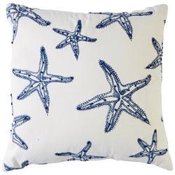 Starfish Stitched Decorative Pillow