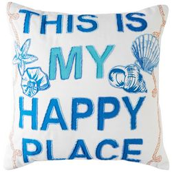 Cosmic This Is My Happy Place Decorative Pillow