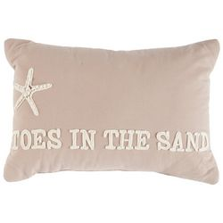 Cosmic Toes In The Sand Decorative Pillow