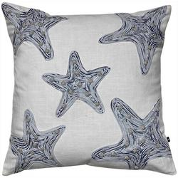 Star Fish Embroidered Decorative Pillow