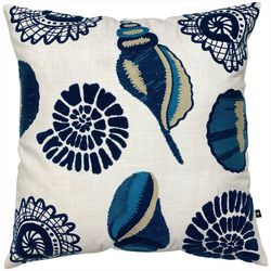 Satvik Sand Shell Embroidered Decorative Pillow