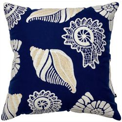 Satvik Seashore Shells Tufted Decorative Pillow