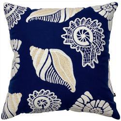 Seashore Shells Tufted Decorative Pillow