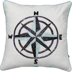 Satvik Compass Beaded Decorative Pillow