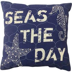 Seas The Day Seahorse Decorative Pillow