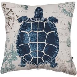 Sea Turtle Compass Decorative Pillow