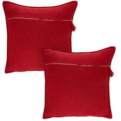 Thro 2-pk. Solid Zipper Front Decorative Pillow