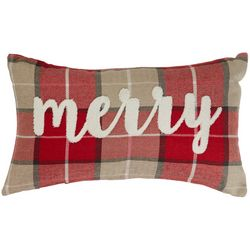 Thro Merry Plaid Decorative Pillow