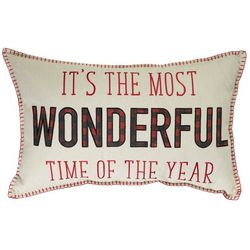 Thro Wonderful Time Of The Year Decorative Pillow