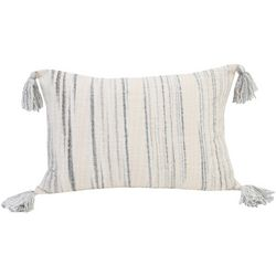 Thro Denis Woven Stripe Tassel Decorative Pillow