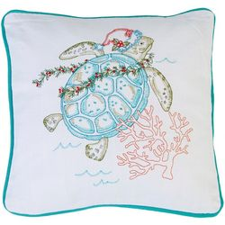 Holiday Sea Turtle Accent Pillow