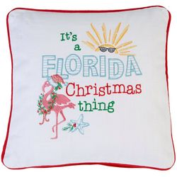 Florida Christmas Thing Accent Pillow