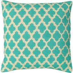 Mod Lifestyles Quatrefoil Tile Decorative Pillow