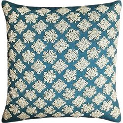 Mod Lifestyles Geometric Beaded Decorative Pillow