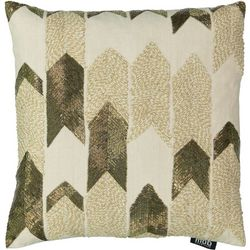 Mod Lifestyles Gold Arrow Beaded Decorative Pillow