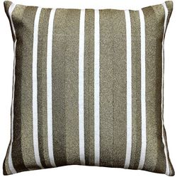 Mod Lifestyles Gold Stripe Decorative Pillow