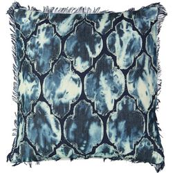 Mod Lifestyles Applique Tie Dye Decorative Pillow