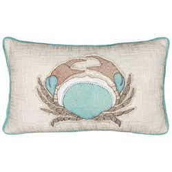 Mod Lifestyles Crab Embroidered Decorative Pillow