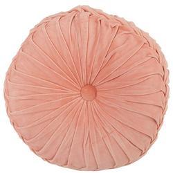 Cross Overlap Velvet Round Decorative Pillow