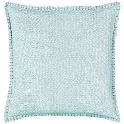 Solid Whipstitch Border Decorative Pillow