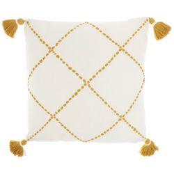 Mina Victory Crisscross Tassel Decorative Pillow