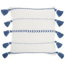 Mina Victory Striped Tassel Decorative Pillow