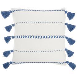 Striped Tassel Decorative Pillow