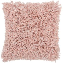 Solid Shag Decorative Pillow