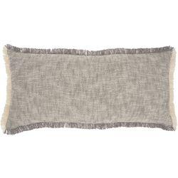 Nourison Solid Fringe Trim Decorative Pillow