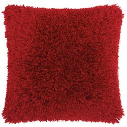 Nourison Solid Velvet Shag Decorative Pillow